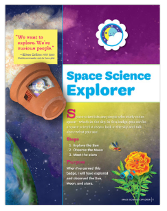 Book cover for Space Science Explorer