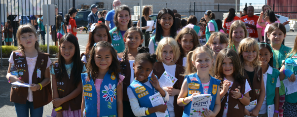 Group of girl scouts